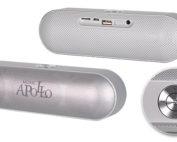 bluetooth hangszóró, hangszóró, ezüst, apollo