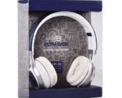 fejhallgató, fülhallgató, headset, extra bass, kék