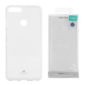 Huawei P smart Átlátszó szilikon tok, Jelly