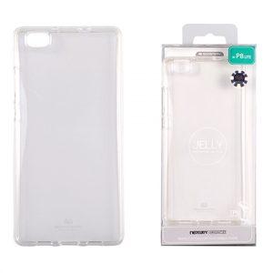 Huawei P8 Lite Átlátszó szilikon tok, Jelly
