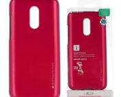 Xiaomi, redmi note 5, 5 plus, pink, szilikon tok ijelly