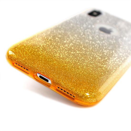 csillogós ombre tok, arany színű
