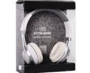 extra bass fehér fejhallgató