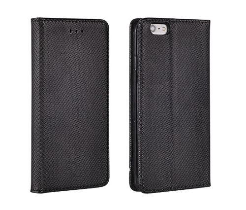 oldalra nyitható, fekete színű telefontok