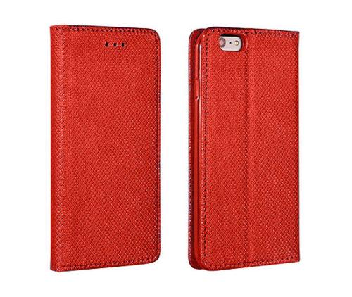 oldalra nyitható, piros színű telefontok