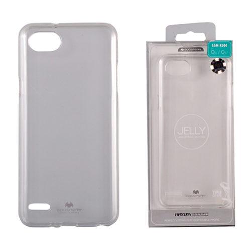 LG Q6 Átlátszó szilikon tok, Jelly