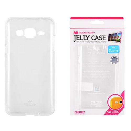 Samsung Galaxy J3 2016 Átlátszó szilikon tok, Jelly