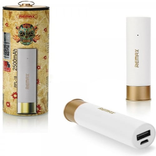 Fehér shell power bank